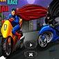 بازی آنلاین مسابقه موتور سواری بتمن و سوپرمن