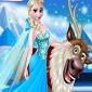 بازی آنلاین رودولف و السا در جنگل یخ زده